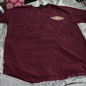 Obey maroon shirt sleeve